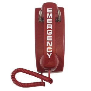 911 EMERGENCY Auto-Dial Red Wall Phone